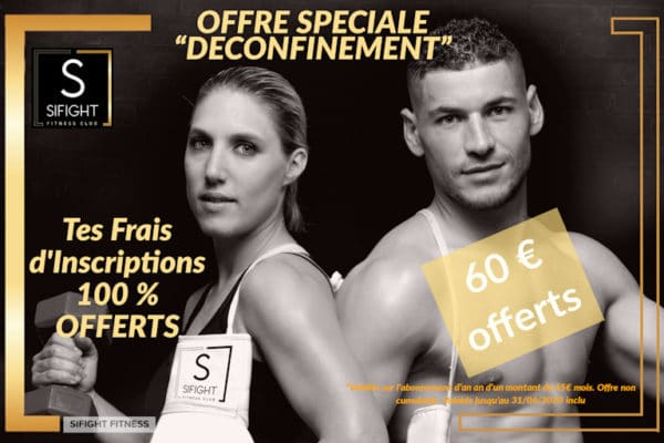 Offre Abonnement Sifight Fitness club sport boxe et fitness Troyes Barberey spécial déconfinement
