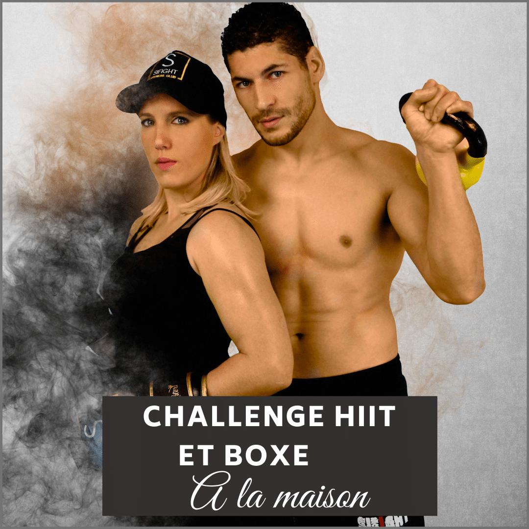 Challenge Hit et boxe à faire à la maison en temps direct avec tes deux coachs